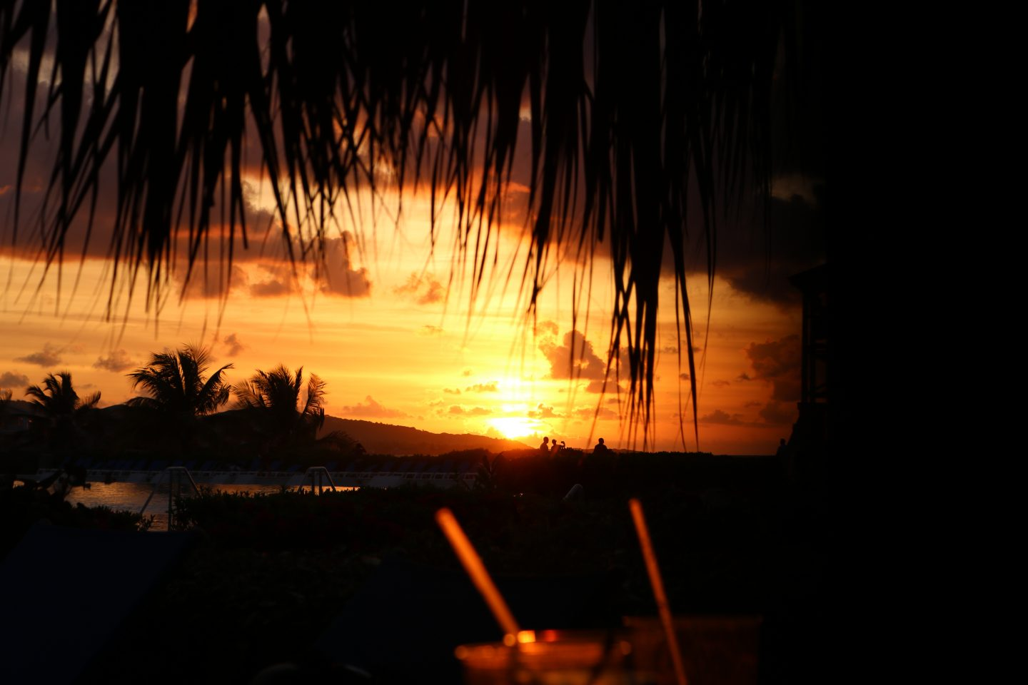 orange sunset in Jamaica